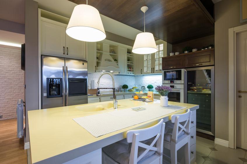 47931184 - interior of a specious modern kitchen